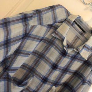 Zara Checkered see through shirt